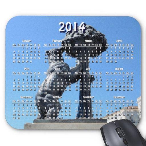 madrid, spain 2014 calendar mousepad