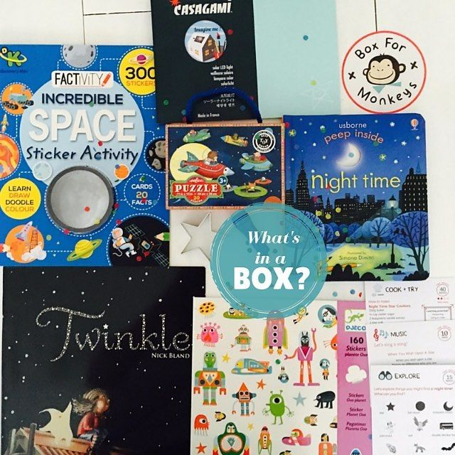 Curious to find out what you will receive in Box For Monkeys' monthly boxes? Peek into July's Night-time-themed box on our BLOG (link below). This box included great products from @_tigertribe_ @eebooalwaysgood @usborne_books @parragonbooks and @djeco_toys. SHOP our August 'Circus Animals' box (link in bio). #boxformonkeys #funwithkids #kids #subscriptionbox #subscription #subscriptionboxes #thingstodowithkids #ideasforkids #preschool #activitiesforkids #kidsactivities http://ift.tt/2aCogEw