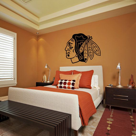 Check Out This Wall Decal That Will Make Any Room Blackhawks Themed