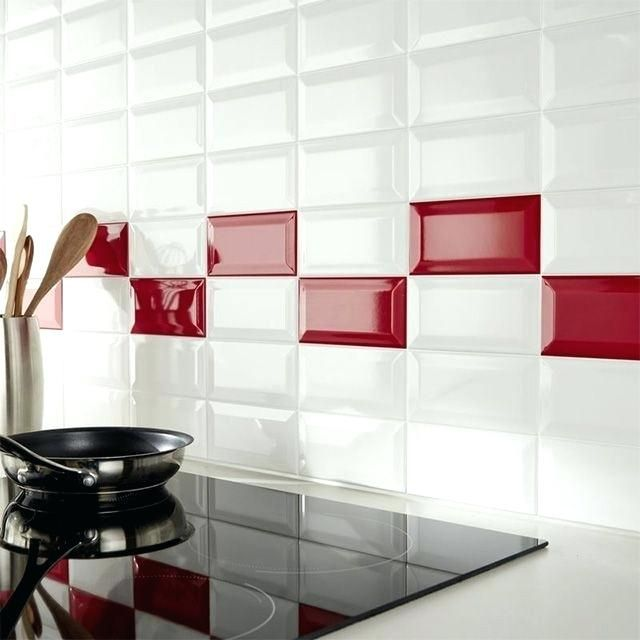 Carrelage Metro Blanc Mat Kitchen Wall Tiles Red And White