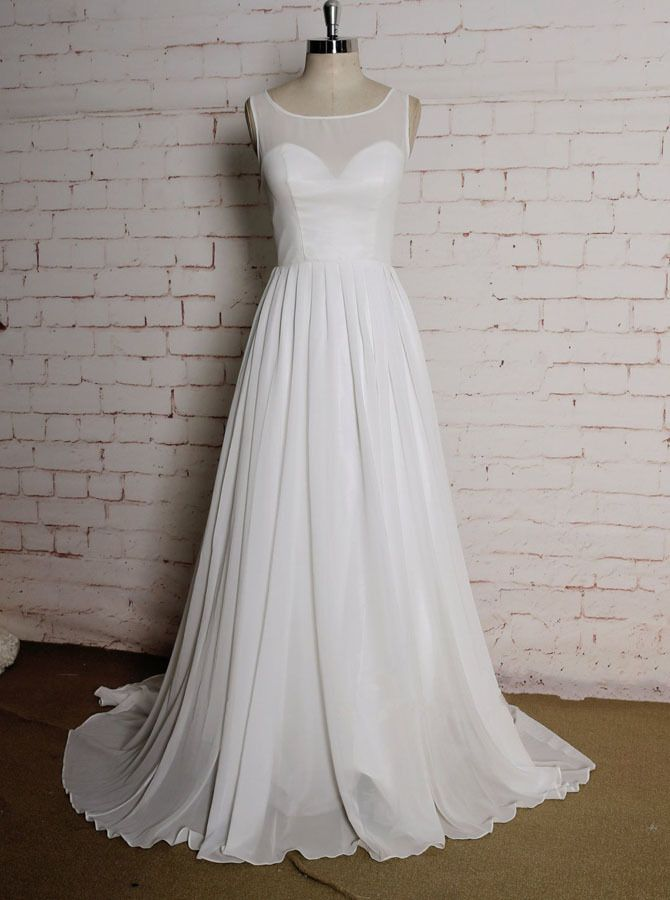 Simple Beach Wedding Dresses Pleated Chiffon Summer Wedding Dress 11621 Chiffon Wedding Dress Beach Summer Wedding Dress Simple Wedding Dress Beach,Short Wedding Dresses 2020