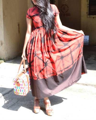Red Tie And Dye Dress | Shop now: www.thesecretlabel.com