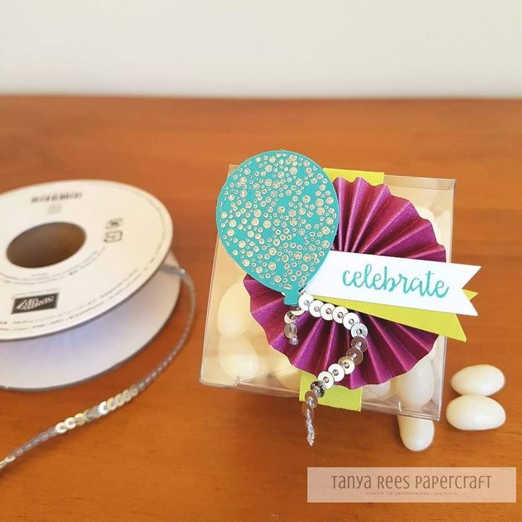 Tanya Rees Papercraft -Stampin' Up!  Happy Birthday Gorgeous Balloon punch Party Favour
