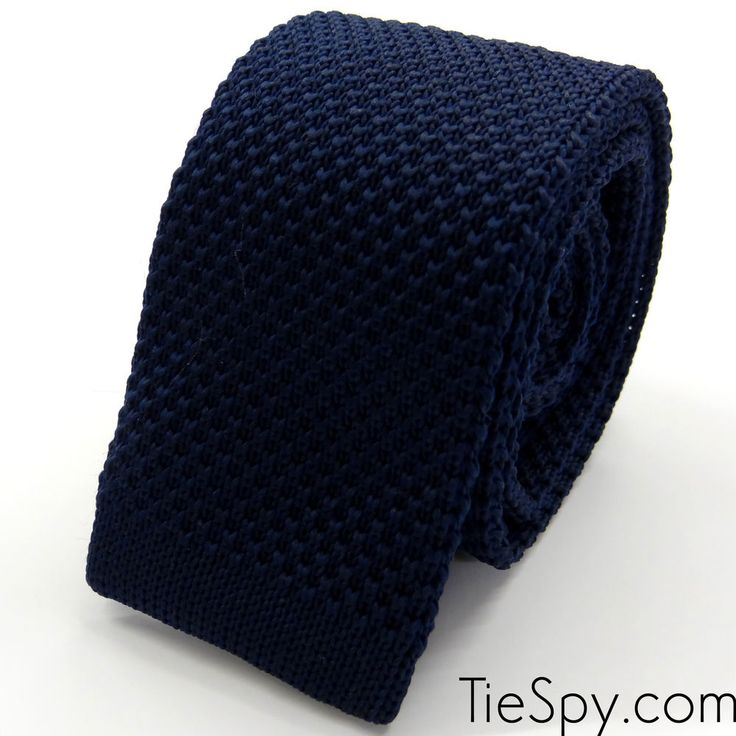 16 New Luxury Mens Blue Plain Woven Tie (Necktie Solid Men Knitted Skinny Fashion)