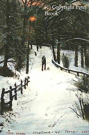 Lighting Up Time. Print by Peter Brook