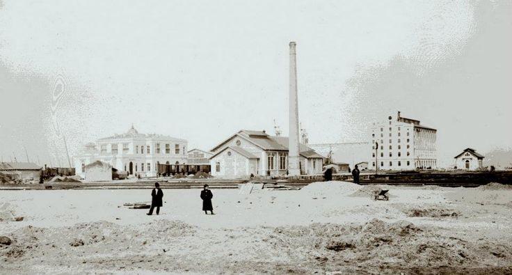 Haydarpaşa Garı yapılırken, 1908