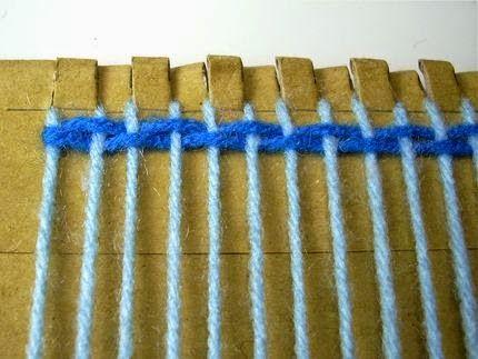 Como fazer um tear de papelão e tapete