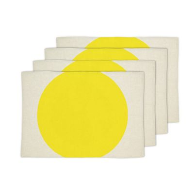 Big Spot Placemat Bright Yellow