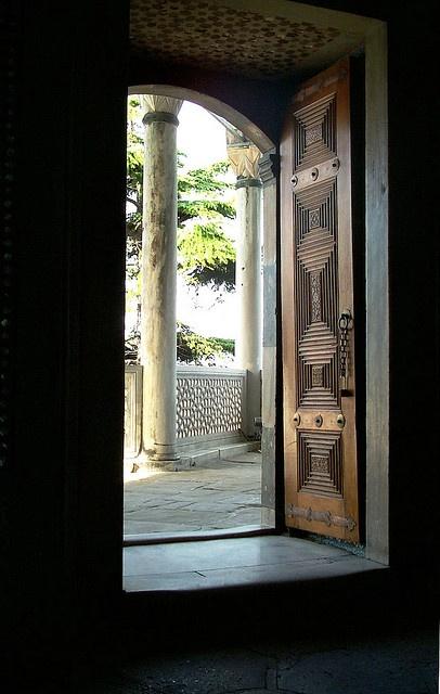 Topkapi, Baghdad Pavillion, View from Interior, Istanbul, Turkey