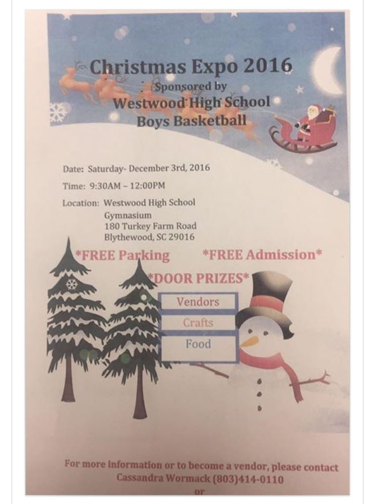 🎄Come out and get your Holiday shopping done early!! Hope to see you there!! 🎄  When: Saturday, December 3 Where: Westwood High-gym Time: 9:30-12  Featuring: Younique, Handbags/Purses, It Works, Avon, Mary Kay, Legal Shield, Merchant Services, Abbie's Driving School,  LH Photography, Natural Health Trends, Pampered Chef, Evelyn's Catering, Everyday Hero Support-scented candles, Thirty-One, Monogramming/Arts and Crafts, Apparel, and much more!!   It's not too late to be a vendor!