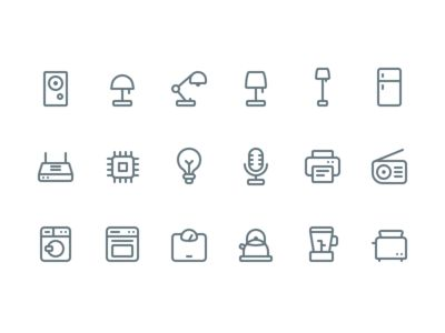 Appliance Icons (Made in @figmadesign)