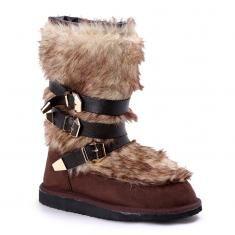 Μπότα με γούνα και αγκράφες