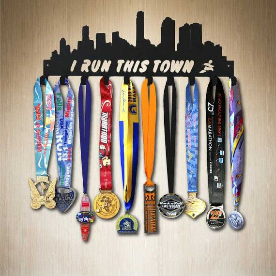 I Run This Town Running Medal Holder Medal Display by SportHooks