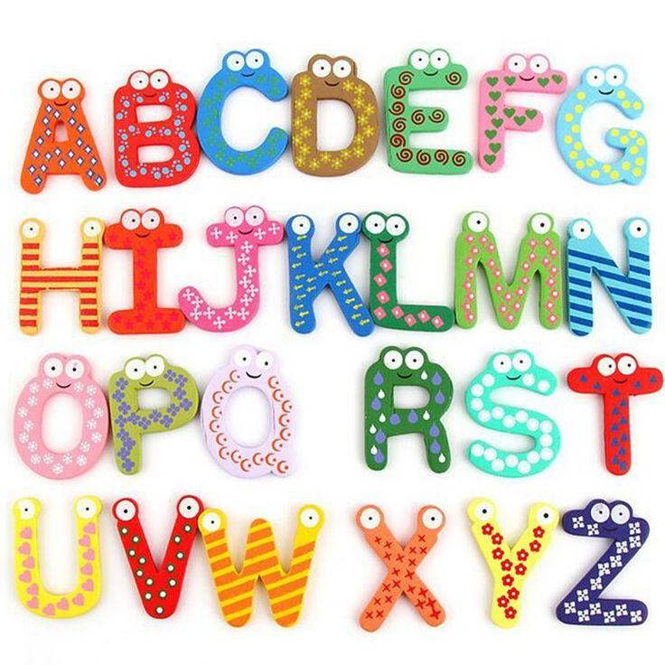 Surat kayu Digital Magnet Kulkas anak Early Learning Pendidikan Matematika Mainan Kayu Kulkas magnet kulkas tongkat B