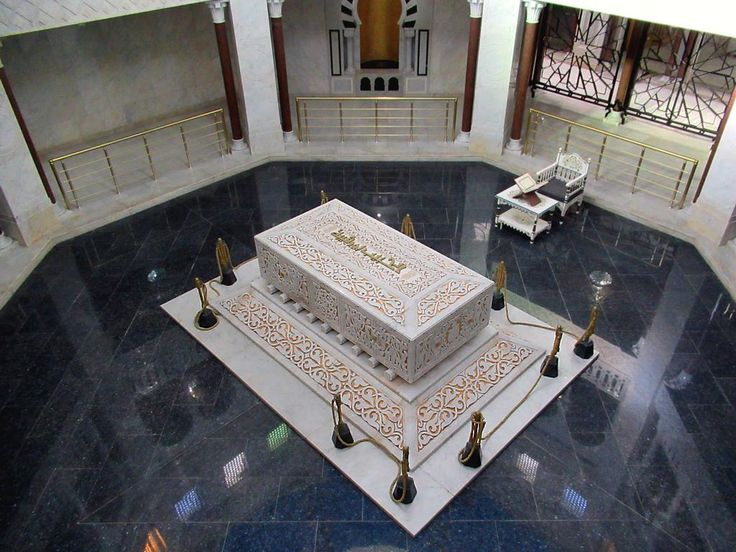 The tomb of Tunisia's first president, Habib Bourguiba (1903-2000), lies in a Napoleonic mausoleum in Monastir, Tunisia.