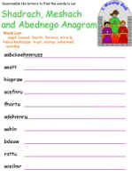 Shadrach, Meshach & Abednego Anagram (Word Scramble)