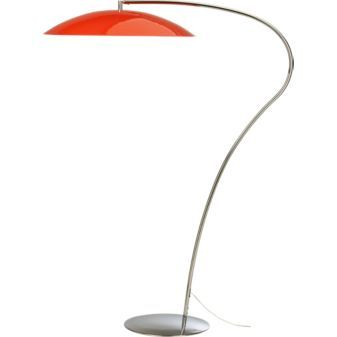 Atomic lobster arc floor lamp 299 from cb2 a different for Cb2 orange floor lamp