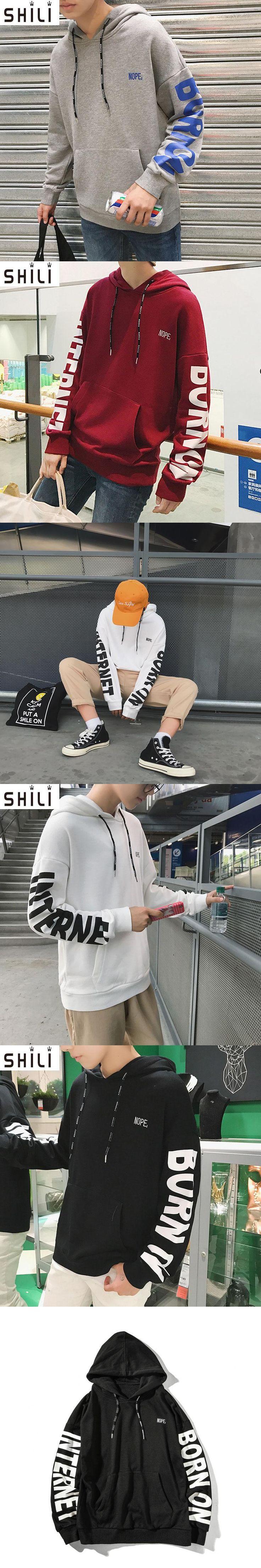 2017  spring and autumn HOODIE Hip Hop Street wear Sweatshirts Skateboard Men Pullover Hoodies Male Hoodie Large size M-5XL