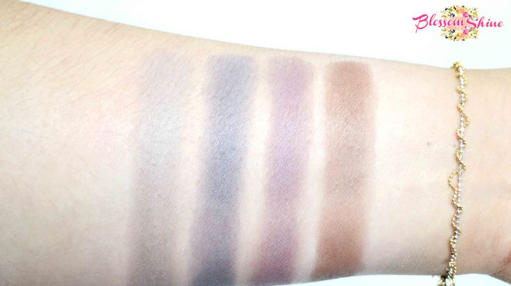 Oriflame ColourBox EyeShadow 5 swatches with primer  #eyeshadow #oriflame #colourbox