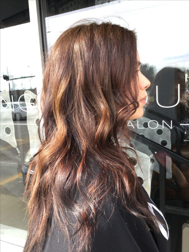 Subtle dimension in dark brown hair. Soft balayage