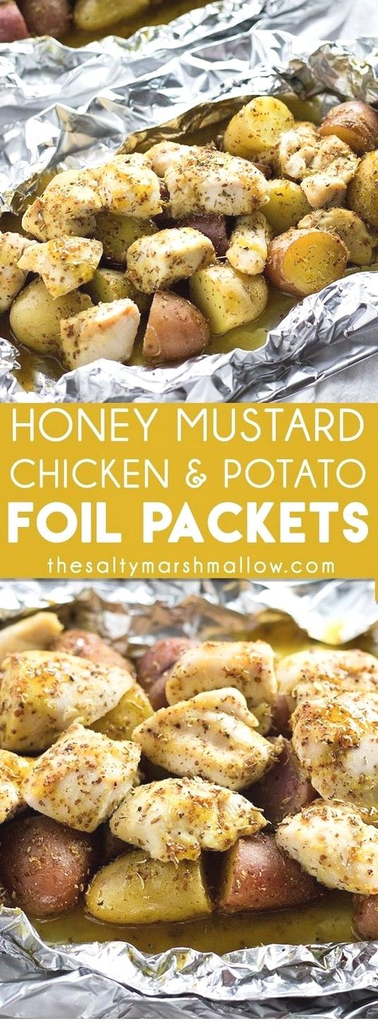 Honey and Mustard Chicken Leaf Packets | Pack Foil Recipes   – Recipes