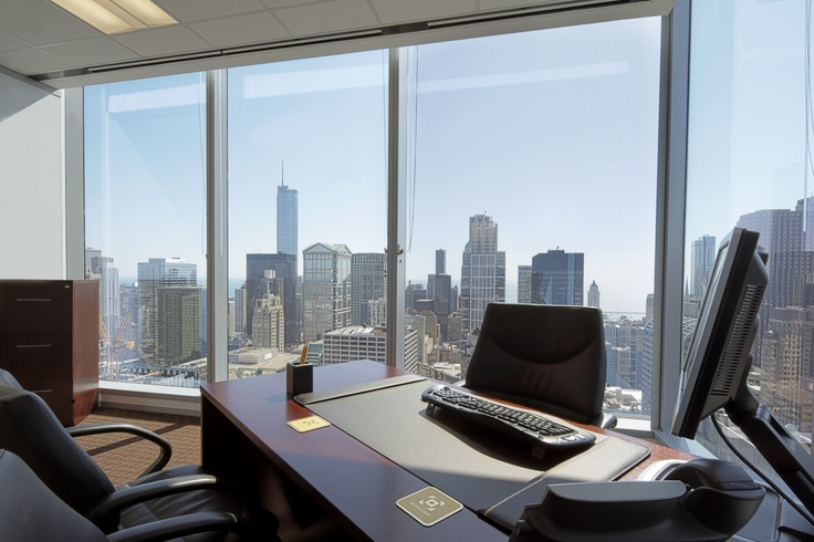 Great views of Downtown Chicago from our Office Suites