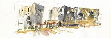 federation square sketch