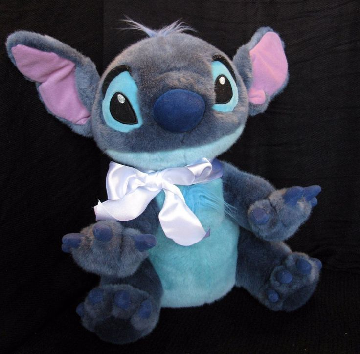 "Disney Store Lilo and Stitch Plush Stuffed Animal 12"" Toy Gift 626 Hawaii Beach  