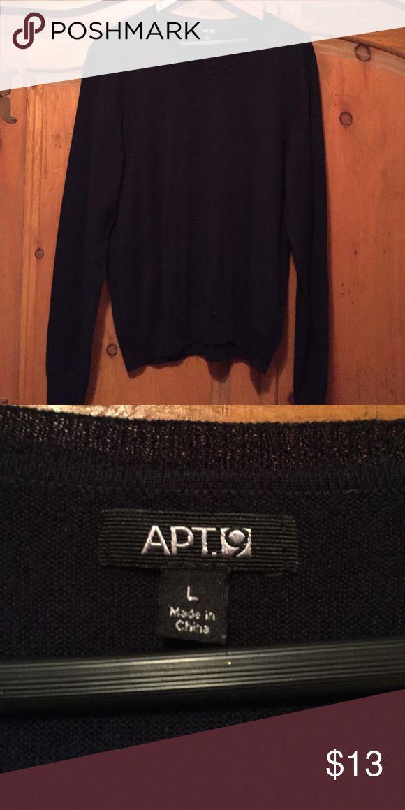 Apt 9 Mens V-neck Sweater Black vneck great shape Apt. 9 Sweaters V-Neck