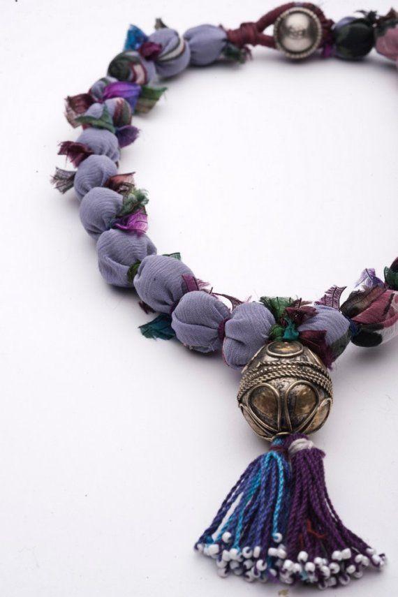 handmade fabric necklace