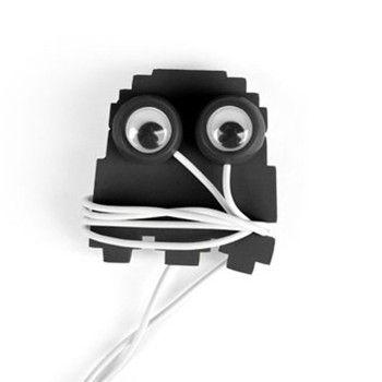 Ghost Buddy Ear Buds  Cord Wrap   Retro Pac-Man Head Phones   The Onion Store