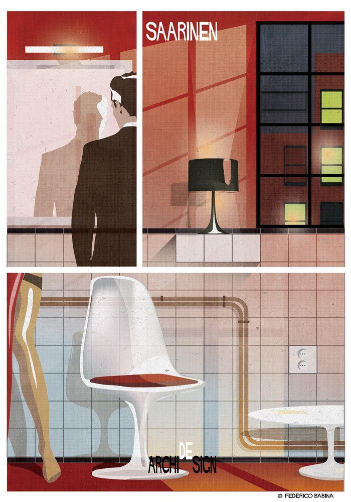 ARCHIDESIGN: Eero Saarinen | Visit site to see all 28