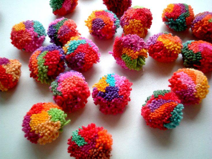 100 Cotton Party Pom Pom pompom yarn pom pom wedding by iammie