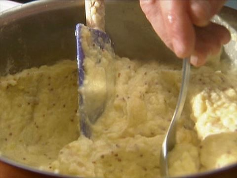 Grainy Mustard Mashed Potatoes : The secret to Tyler's mashed potatoes: a dollop of grainy mustard.