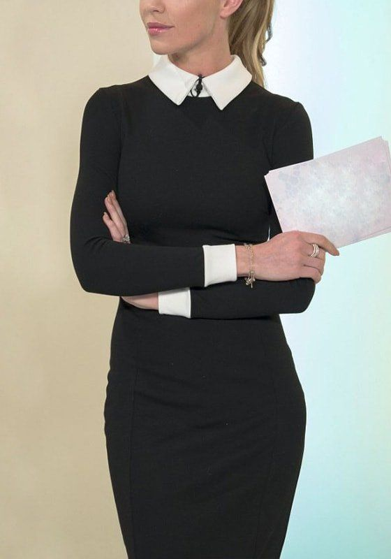 Office Style // Black Classic Midi Dress | Lookbook Store ♦F&I♦