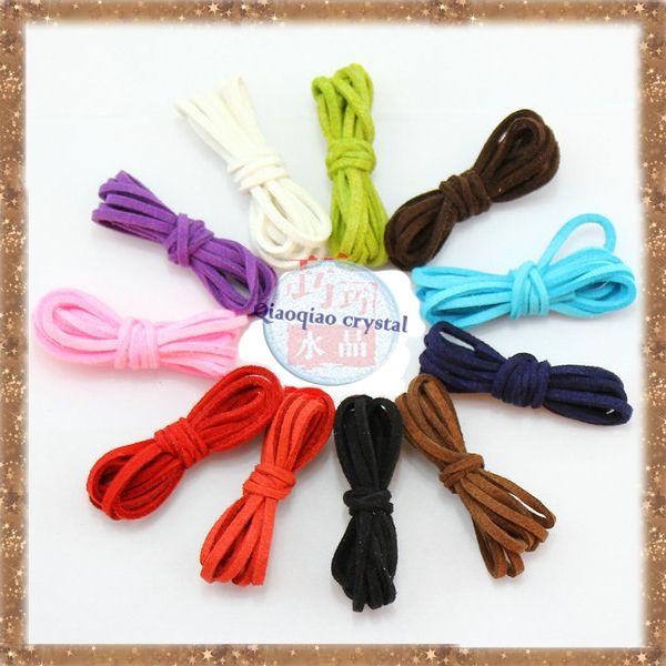 DIY ювелирных аксессуары 1 м * 10 квадратных кожаный шнур новый стиль моды diy браслет бисероплетение velvet rope