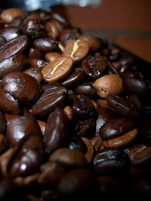 Natural Dark Coffee : Coffee beans natural high carb covered or unsweetened