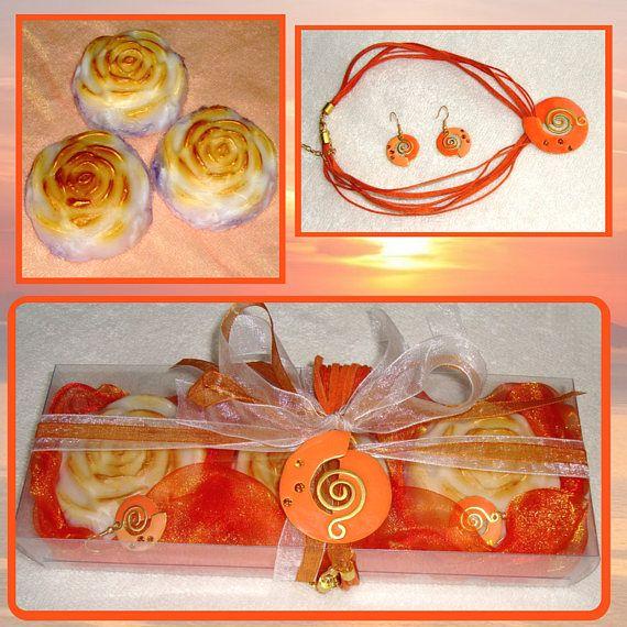 Sophisticated Golden Orange Beauty Gift Set for Women  Luxury