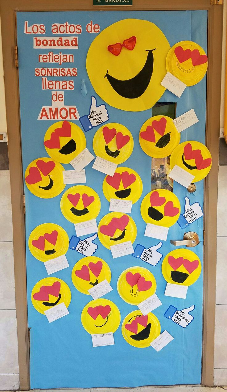 I Like👍my Emoji 😍door Decoration Random Acts Of Kindness