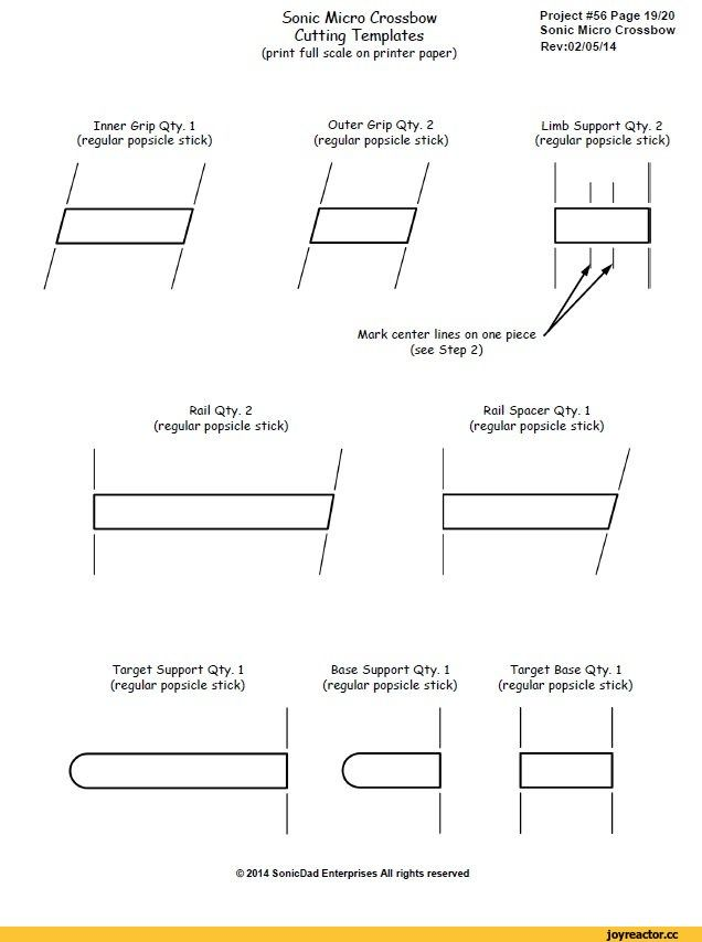 Micro Crossbow Template CraftDIY Ideas Pinterest