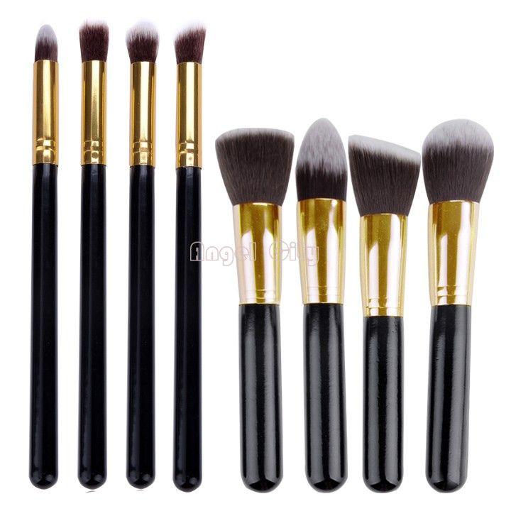 pas cher, Achetez directement de China Suppliers: & #12288;Nouveaux cosmétiques fard à paupières maquillage pro ensemble. fondation. bois, fard à joues pinceau 8 or, outils pcsCaractéristiques:100% brand new.Type: pinceau de maquillageCouleur: orQuan