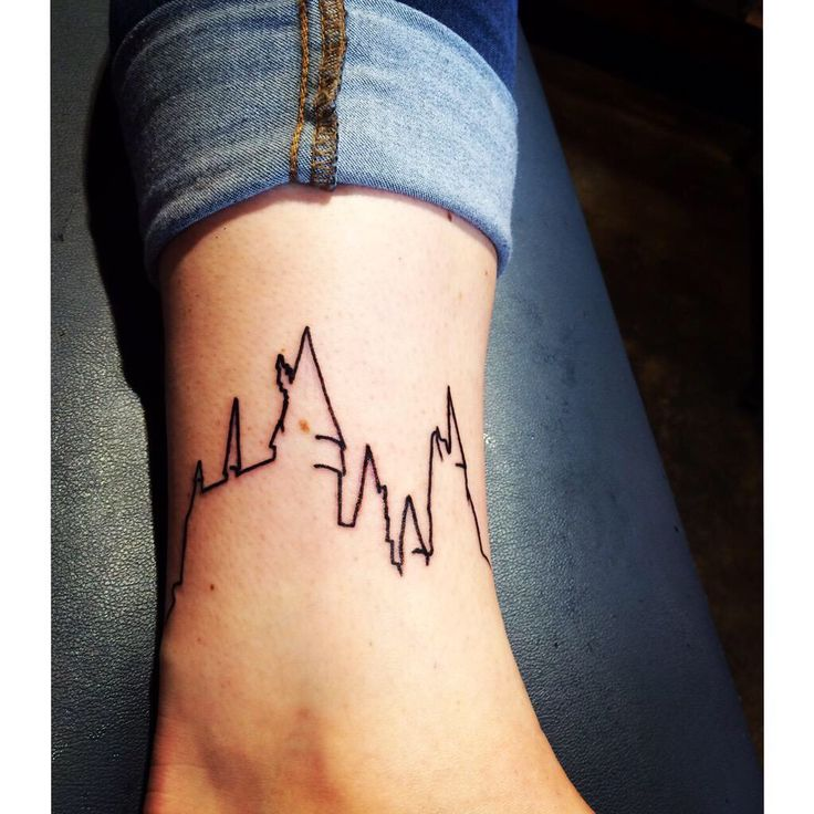 Hogwarts ankle tattoo