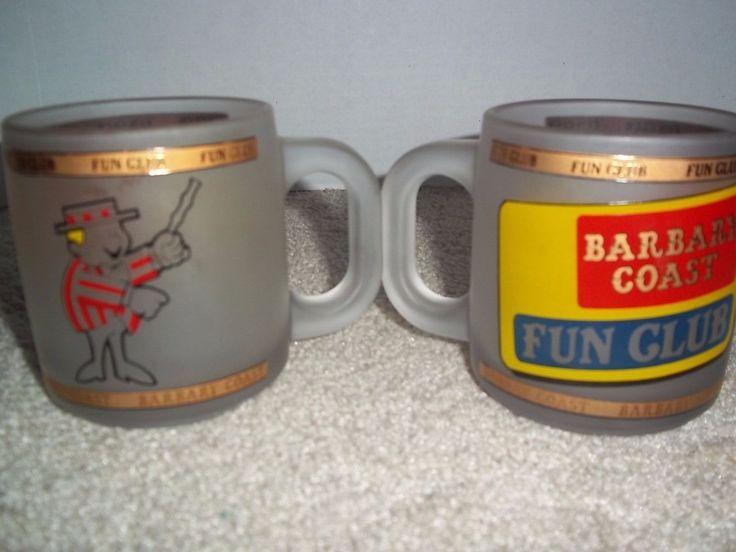 Kappan-kent Circus Barbary Coast Fun 2 Frosted Mugs Ring Master Circus Vtg?