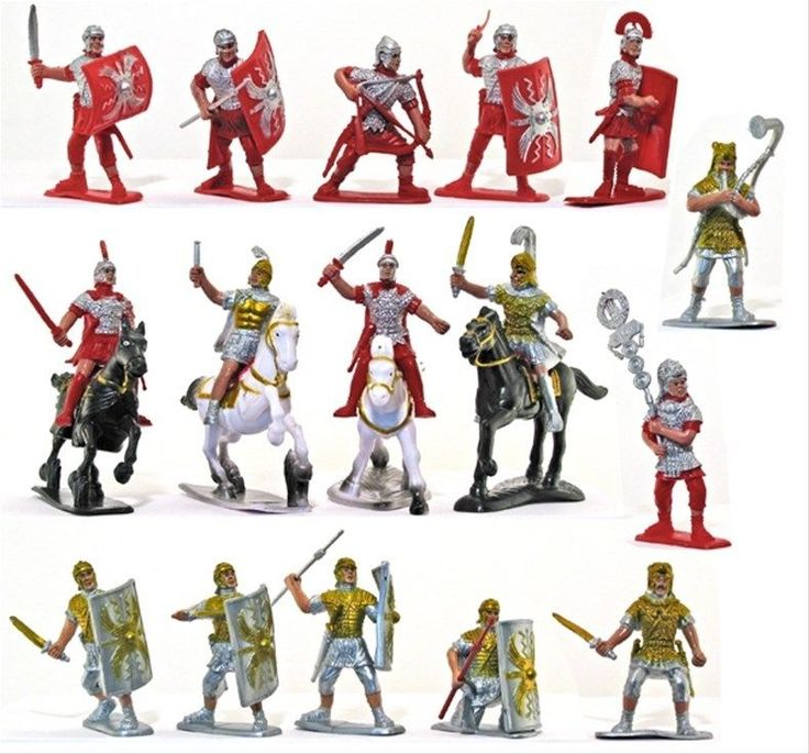 Plastic Toy Soldiers Roman Infantry Auxiliary Cavalry 54mm 16 w Horses Marx type #Fencibles #RomanInfantryandAuxiliaryCavalry
