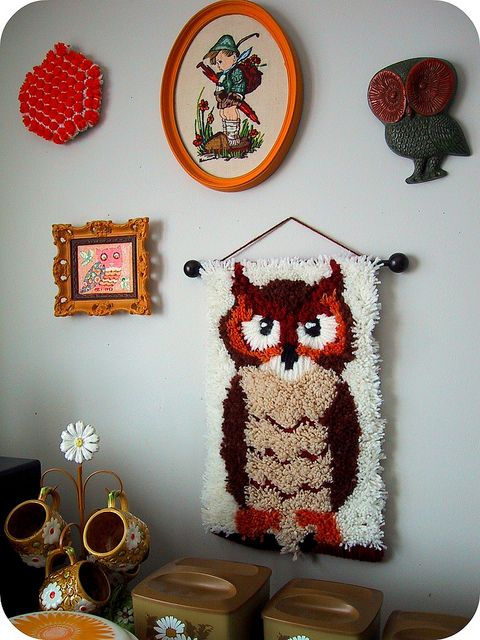 i have an owl almost just like this!!!!    Latch Hook Rug Tutorials