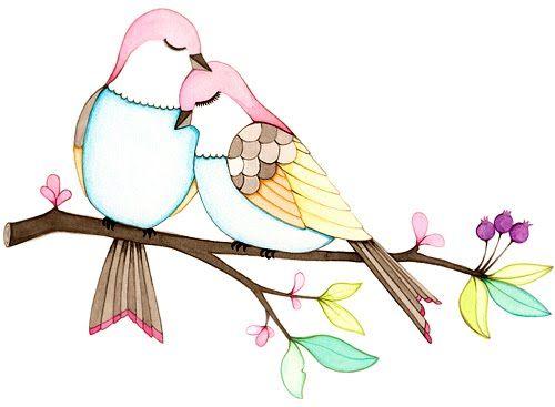 Beautiful watercolour birds