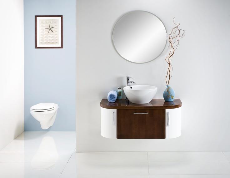 Linea Blanca collection - wooden bathroom furniture / łazienka #bathroom #furniture #wood #washbasin