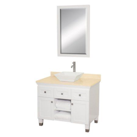 Web Image Gallery Wyndham Collection Premiere inch Single Bathroom Vanity in White White Carrera Marble Countertop