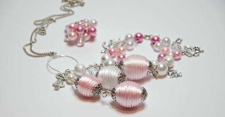Handmade Everly chain with satin cord beads