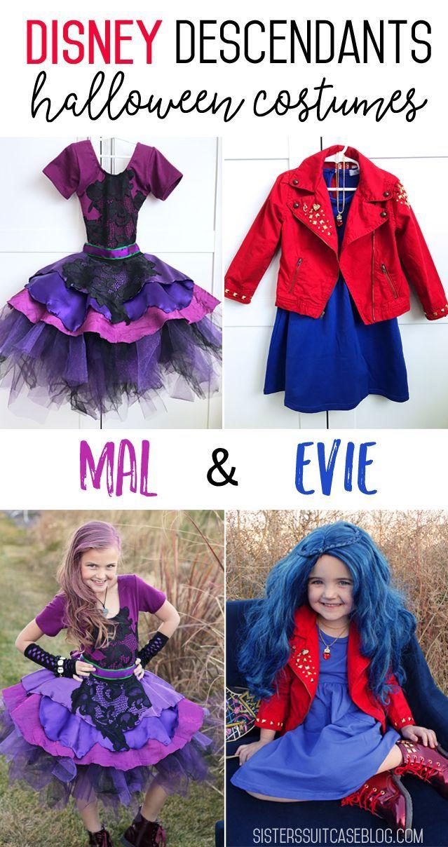 Disney Descendants 2 Costumes: Mal & Evie | DIY Kids